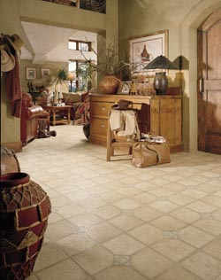 Home Office With Waterproof Luxury Vinyl Flooring